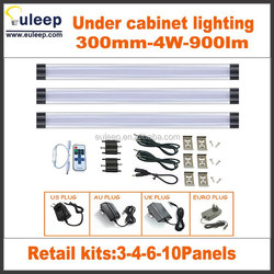 Dimmable Under Cabinet Lighting, 3 Panel Deluxe Kit, Total of 12W, 12 V DC, 900lm, Warm White, 24W Fluorescent Tube Equivalent,