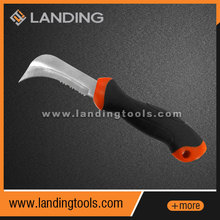 384501 ABS handle covered by rubber steel blade roofing knife
