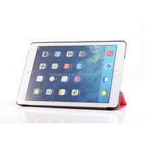 tri folding slim pu leather tablet case for ipad 6