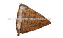 wicker hanging basket wholesale, garden decorative hanging basket for plants, hanging decorative basket