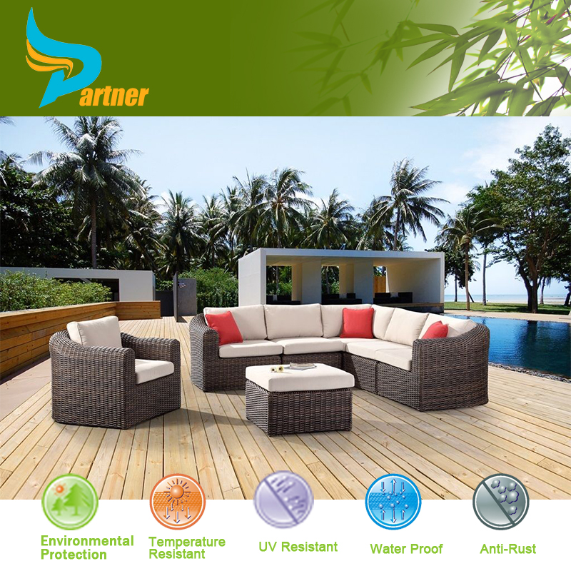 7 Pieces Elegant Luxury Home Trends Patio Living Room Furniture L Shaped Wicker Sofa Sets Buy