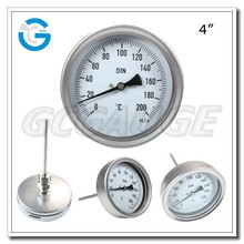 High quality stainless steel industrial bimetal dial thermometer