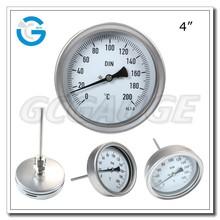 Alta calidad de acero inoxidable bimetálico industrial termómetro de cuadrante