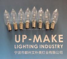 E10 christmas LED bulbs 10-48V CE ROHS waterproof IP67 olive bulb