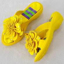 Blumendekoration eva hohen plattform pantoffel, diy blume eva sandale