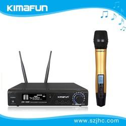 UHF true diversity cheap wireless microphone KM-100H