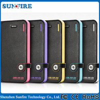 Luxury case for iphone 6, high quality leather phone case with DIY detachable magnetic snap