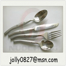 simple style square headed stainless steel cutlery set(2 forks+knife+2 spoons)
