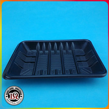 Disposable Plastic Black Soft Vegetable Tray