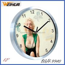 12 inch diy metal wall clock