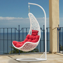 Hot sale high quality outdoor leisure rattan swing chair garden single swing chair