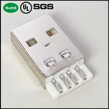 Short solder A type USB 2.0 male 4P Connector