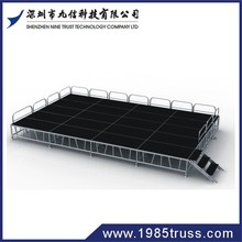 Ajustable aluminium frame wooden platform outdoor stage