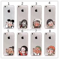 China manufacturer Fashion Cute Cartoon portraits Hit the glass Pattern PC Hard mobile phone case for samsung GALAXY Note 3