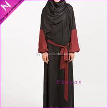 black maroon sleeves latest design muslim jubah