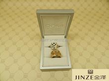luxury OEM design fine quality wood engagement ring box