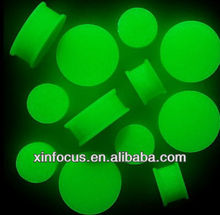 "GLOW IN THE DARK SILICONE FLEXI DOUBLE FLARES UP TO 1"" INCH cheap ear gauge plugs body jewelry"