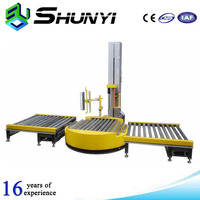 High quality and PLC control wrapping machine online pallet packaging line
