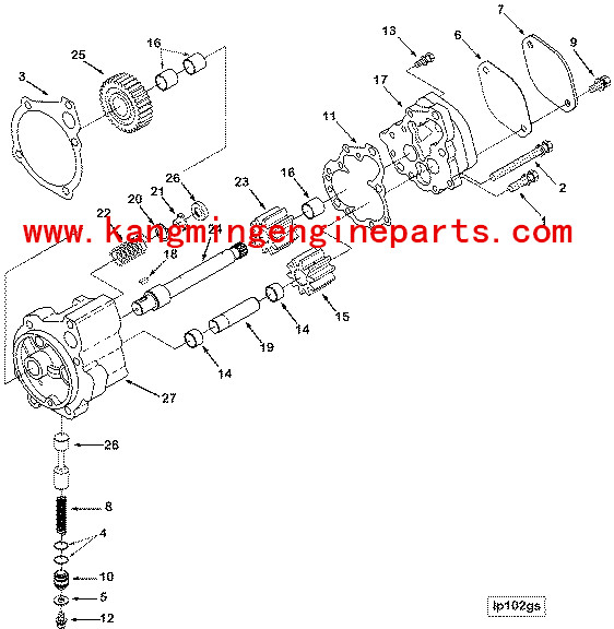 diesel engine n14 pump lubricating oil 3085379 buy n14 oil pump rh alibaba com Cummins Engine Fuel System Diagram Cummins N14 Plus Engine Diagram