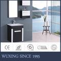 [ Wx ] chine hangzhou usine prix pas cher noir blanc moderne ensembles de salle de bain armoire de toilette avec côté armoires miroir encadré