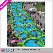 1000 ft slip n slide inflatable slide the city/two lanes inflatable city slide