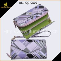 Wholesale Short Size Lady Wallet PU leather With Wrist Strap