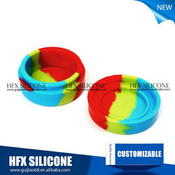 Hot sale cured 3ml small container office/ silicone customized bho oil container/ silicone bho container