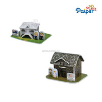 Novelty products and cheap kids craft kits 3d model house puzzle
