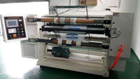 High Precision BOPP,PET,PVC Jumbo Roll Film Slit and Rewind Machine /Label Slitting Rewinding Machine