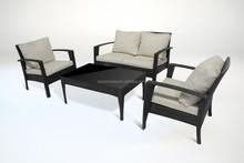PANAMA PE Rattan Sofa Set 4P Steel Outdoor furniture waterproof CE