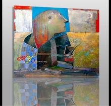 Sphinxt abstrata pintura a óleo sobre tela para sala de estar