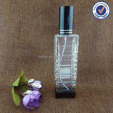 30ml 50ml screw neck/refillable glass perfume bottle with alu pump