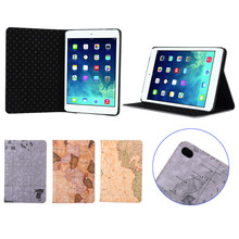 World Map Pattern Wallet Leather Stand Case for iPad Mini 4,for iPad mini 4 leather case