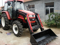 Kubota garden tractor with front loader farm machinery equipment
