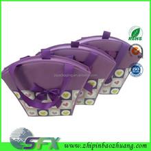 2015 purple new design lady paper guess handbag