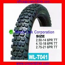 China wholesale different size off-road natural rubber best quality motorcycle Tyres
