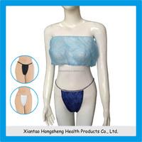 Hot selling sex girl blue disposable strapless bra