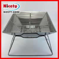 New design decorative outdoor stainless steel bbq gate grill