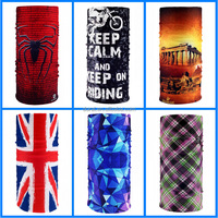 Cheap wholesale thousand of designs seamless tube multifunctional bandanas headwear