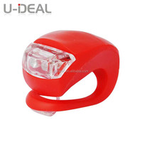 silicone hot selling rear bike light