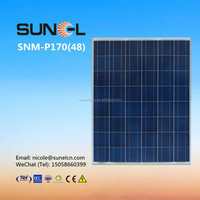 170W poly solar panel price with TUV IEC CE certificate