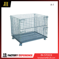New Design High Quality Steel Storage Folded Wire Cage