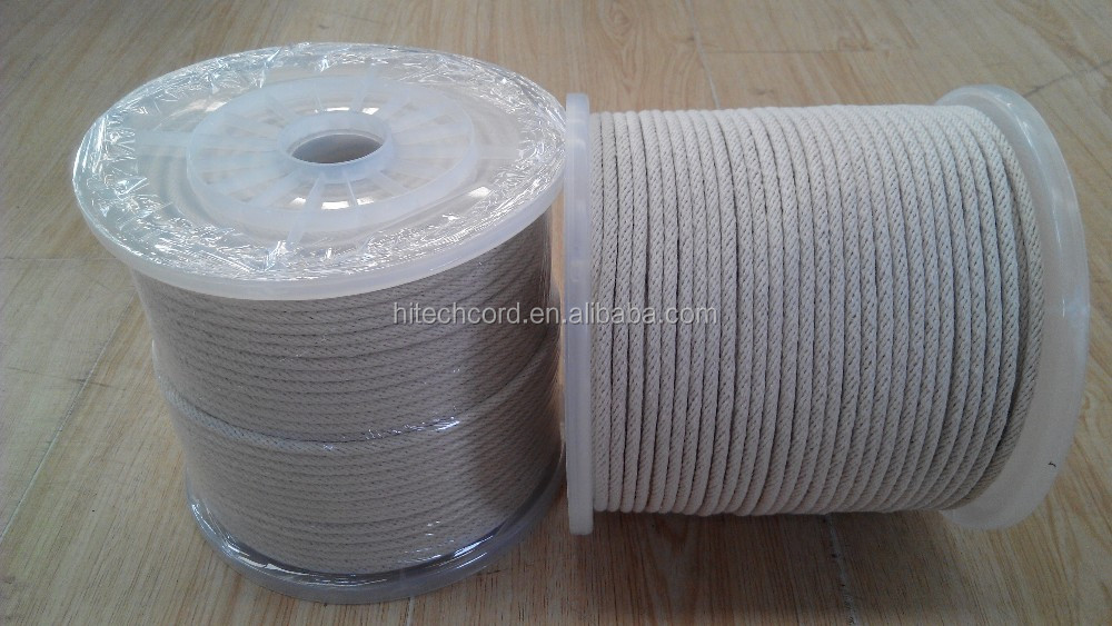Cotton solid braided rope
