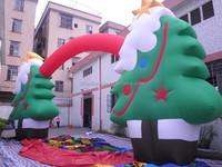 10m Span Christmas decoration inflatable Christmas tree arch