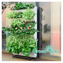 Garden self watering stacking wall plant pots