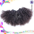 Color Natural light / dark brown, negro Natural bulto del pelo humano camboyano virginal rizado extensiones de la armadura del pelo humano