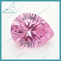 venta al por mayor del milenio corte de pera de color rosa de diamante sintético de piedra para la venta