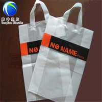 shopping soft loop handle ldpe material Plastic packing bags