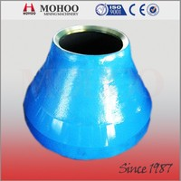 high quality Pegson Maxtrak 1300 cones parts bowl liner,concave and mantle Mn13%,Mn18%,Mn22% available