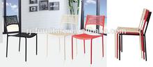 Barato silla de metal/de plástico silla de comedor